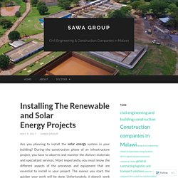 The Installing The Renewable And Solar Energy Projects Case Study You'll Never Forget
