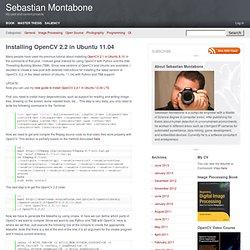Installing OpenCV 2.2 in Ubuntu 11.04 – Sebastian Montabone
