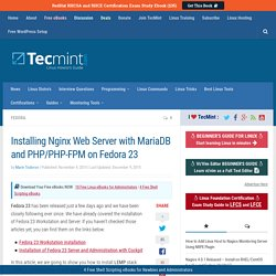 Installing Nginx Web Server with MariaDB and PHP/PHP-FPM on Fedora 23