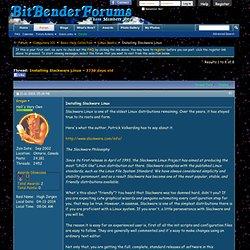 Installing Slackware Linux - Bitbender Forums