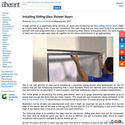 Installing Sliding Glass Shower Doors