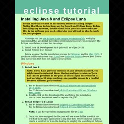 Installing Eclipse « Eclipse Tutorial « UMD Computer Science