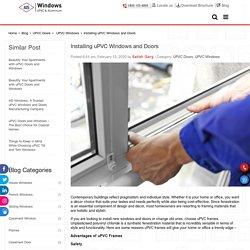 Installing uPVC Windows and Doors
