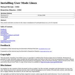 Installing User Mode Linux