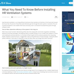 What You Need To Know Before Installing HR Ventilation Systems