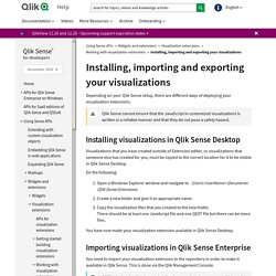 Installing, importing and exporting your visualizations ‒ Qlik Sense for developers