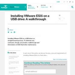 Installing VMware ESXi on a USB drive: A walkthrough