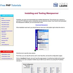 PHP Tutorials - Installing and Testing Wampserver