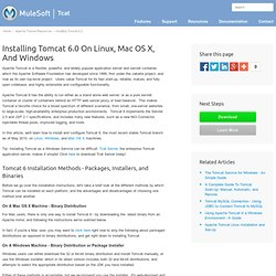 Installing Tomcat 6.0 On Linux, Mac OS X, And Windows