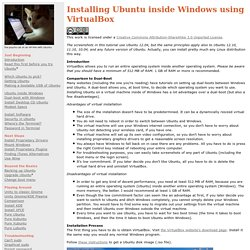 Installing Ubuntu inside Windows using VirtualBox