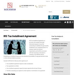 IRS Tax Installment Agreement