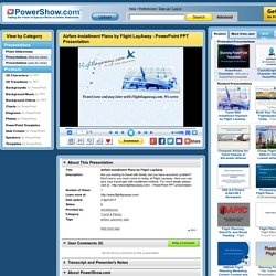 Airfare Installment Plans by Flight LayAway PowerPoint presentation