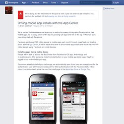 Driving mobile app installs with the App Center