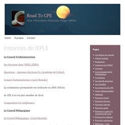 Instances de l'EPLE – Road To CPE