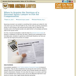 When to Acquire the Services of a Personal Injury Lawyer to File for Compensation