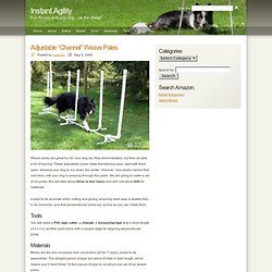 "Instant Agility » Adjustable ""Channel"" Weave Poles"