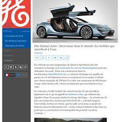 Das Instant Auto : bienvenue dans le monde des bolides qui marchent à l'eau - GE Reports France