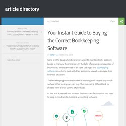 Your Instant Guide to Buying the Correct Bookkeeping Software