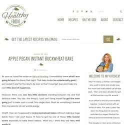 Apple Pecan Instant Buckwheat Bake
