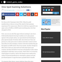 One Spot Gaming Solutions