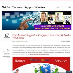 Find Instant Support to Configure Your D-Link Router With Ease!