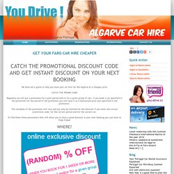 Get instant Discount for Faro Car Hire