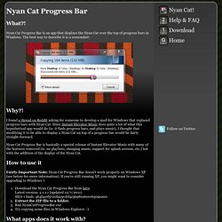 Instant Elevator Music - Nyan Cat Progress Bar