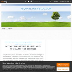 Instant marketing results with PPC marketing services