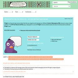 Pidgin - secure instant messaging