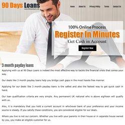 3 Month Payday Loans- Avail Instant Short Term Cash Loans in 4 Minutes On Approval Today
