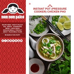 Instant Pot (Pressure Cooker) Chicken Pho