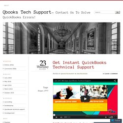 Get Instant QuickBooks Technical Support