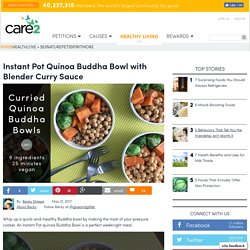 Instant Pot Quinoa Buddha Bowl With Curry Sauce