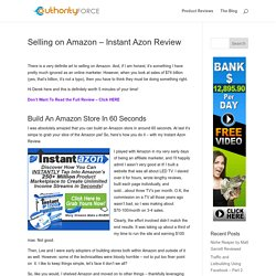 Instant Azon Reviewed - Fast Profits From Amazon Stores