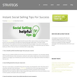 Instant Social Selling Tips For Success