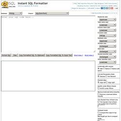 Instant SQL Formatter
