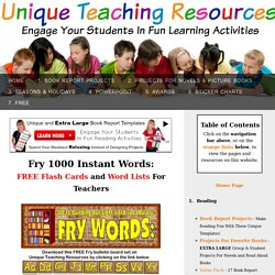 Fry 1000 Instant Words For Teaching Reading: Free Flash Cards and Word Lists