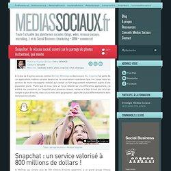 Snapchat : le réseau social, centré sur le partage de photos instantané, qui monte