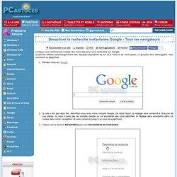Désactiver la recherche instantanée Google - Tous les navigateurs