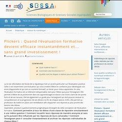 Plickers : Quand l'évaluation formative devient efficace instantanément et... sans grand investissement !