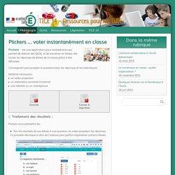 Plickers ... voter instantanément en classe - TICE 14 - Ressources pour les TUIC