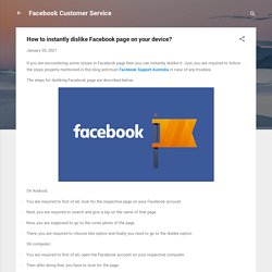 How to instantly dislike Facebook page on your device?