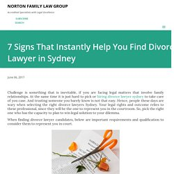 7 Signs That Instantly Help You Find Divorce Lawyer in Sydney