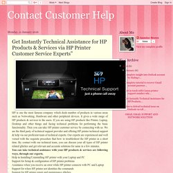Contact Customer Help: Get Instantly Technical Assistance for HP Products & Services via HP Printer Customer Service Experts""