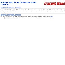 InstantRailsWiki: Rolling With Ruby On Instant Rails Tutorial
