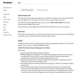 Instapaper APIs