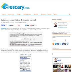 Instapaper permet lajout de contenu par mail
