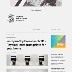 Instaprint by Breakfast NYC (@breaknyc) - Physical Instagram prints for your home #kickstarter