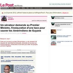 Un sénateur demande au Premier Ministre, l'instauration d'une taxe pour sauver les Amérindiens de Guyane - Les Amérindiens Wayana sur LePost.fr