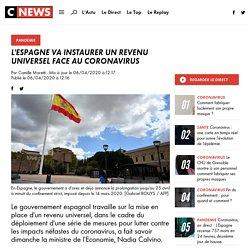 L'Espagne va instaurer un revenu universel face au coronavirus
